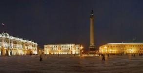 Russia PalaceSquareNight